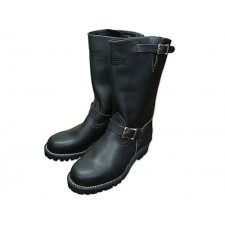 "Wesco 11"" Black Leather Boss Boots 7700100"
